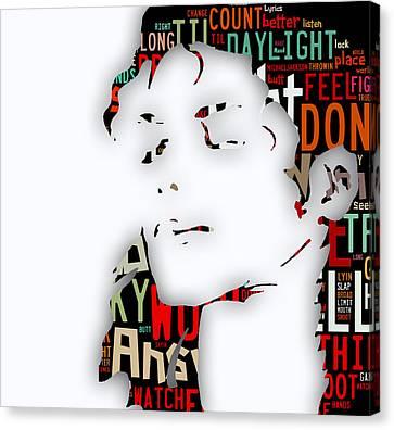 Michael Jackson I'm Bad Canvas Print by Marvin Blaine