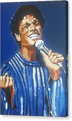 Michael Jackson Canvas Print by Rachel Natalie Rawlins