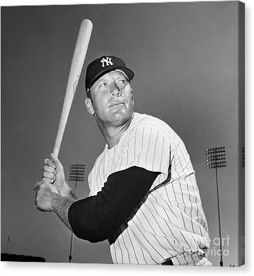 Mickey Mantle (1931-1995) Canvas Print by Granger