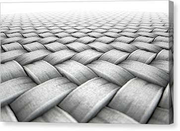 Micro Fabric Weave Canvas Print by Allan Swart