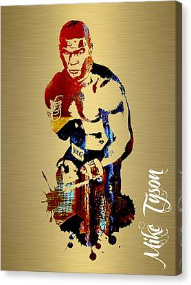 Mike Tyson Collection Canvas Print by Marvin Blaine