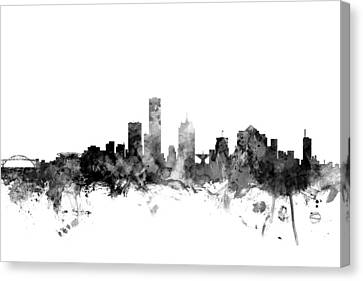 Milwaukee Wisconsin Skyline Canvas Print by Michael Tompsett