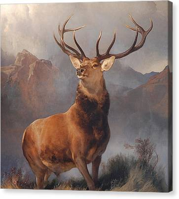 Monarch Of The Glen Canvas Print by Edwin Landseer