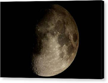 Moon Canvas Print by George Leask