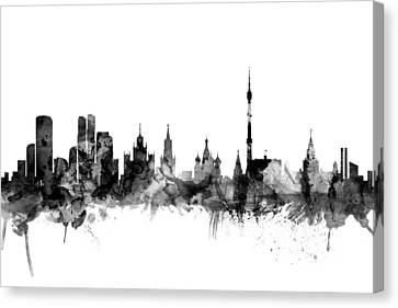 Moscow Russia Skyline Canvas Print by Michael Tompsett