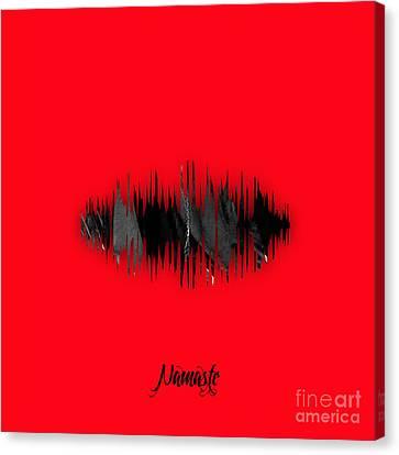 Namaste Spoken Soundwave Canvas Print by Marvin Blaine