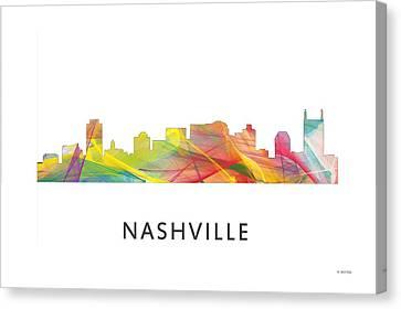 Nashville Tennessee Skyline Canvas Print by Marlene Watson
