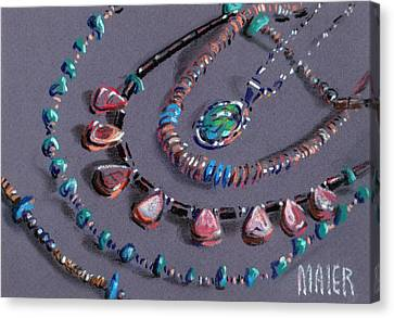 Navajo Jewelry Canvas Print by Donald Maier