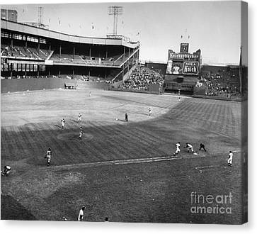 New York: Polo Grounds Canvas Print by Granger