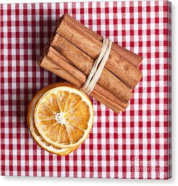 Orange And Cinnamon Canvas Print by Nailia Schwarz
