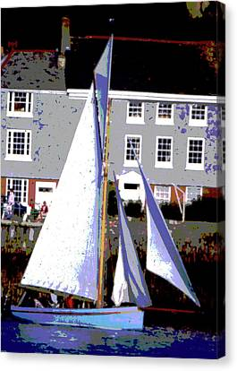 Oyster Boats Canvas Print by Brian Roscorla