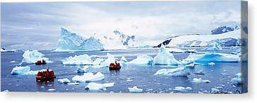 Panoramic View Of Ecological Tourists Canvas Print by Panoramic Images