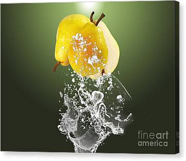 Pear Splash Collection Canvas Print by Marvin Blaine