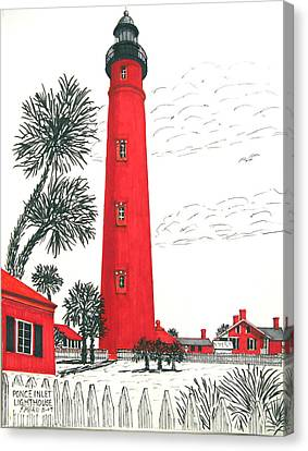 Ponce Inlet Lighthouse Canvas Print by Frederic Kohli