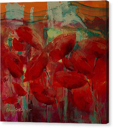 Poppies Canvas Print by Dorina  Costras