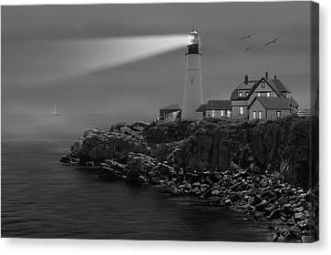 Portland Head Lighthouse Canvas Print by Mike McGlothlen