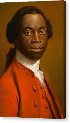 Portrait Of An African Canvas Print by Allan Ramsay