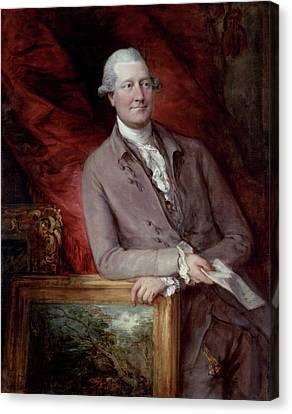 Portrait Of James Christie Canvas Print by Thomas Gainsborough