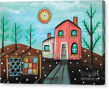 2 Quilts Canvas Print by Karla Gerard