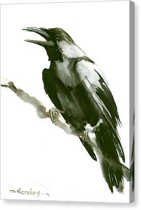 Raven Canvas Print by Suren Nersisyan