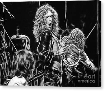 Robert Plant Led Zeppelin Canvas Print by Marvin Blaine