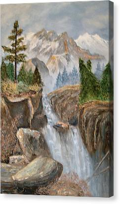 Rocky Mountain Waterfall Canvas Print by Alanna Hug-McAnnally