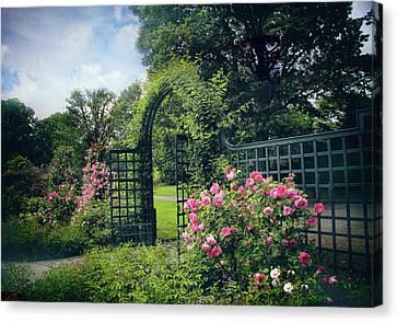 Rose Garden Gate Canvas Print by Jessica Jenney