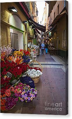 Rue Pairoliere In Nice Canvas Print by Elena Elisseeva