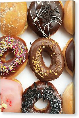 Selection Of Doughnut Canvas Print by Tom Gowanlock