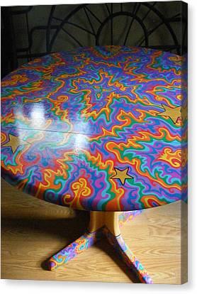 Sharpie Star Table Canvas Print by Mandy Shupp