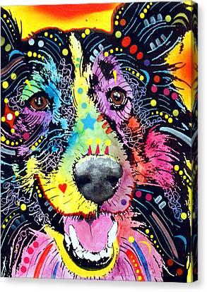 Sheltie Canvas Print by Dean Russo