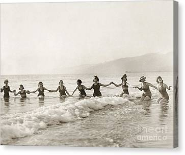 Silent Film Still: Bathers Canvas Print by Granger