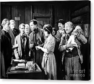 Silent Film Still: Wedding Canvas Print by Granger