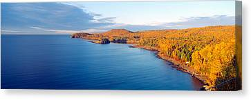 Split Rock Lighthouse From 1905, Lake Canvas Print by Panoramic Images