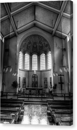 St George In The East Church London Canvas Print by David Pyatt