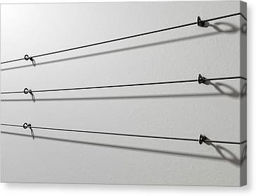 Steel Cable Display Wall Canvas Print by Allan Swart