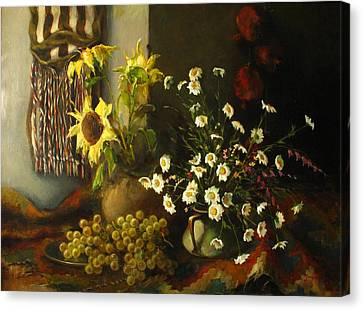 Still-life With Sunflowers Canvas Print by Tigran Ghulyan