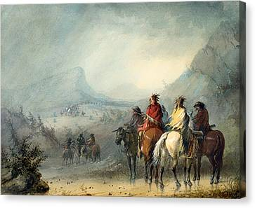 Storm - Waiting For The Caravan Canvas Print by Mountain Dreams