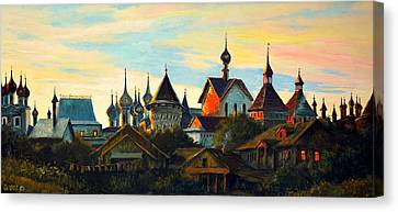 Sunset In Rostov Canvas Print by Henryk Gorecki