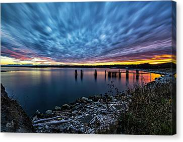 Sunset Jacksons Beach Canvas Print by Thomas Ashcraft