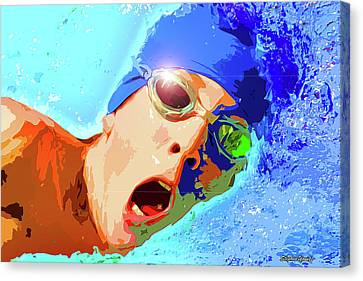 Swimmer Digital Art By Stephen Younts
