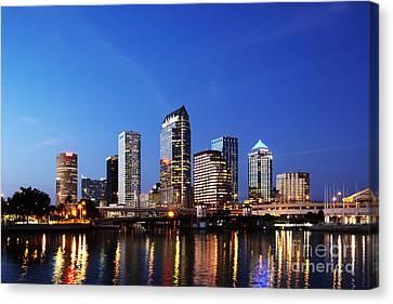 Tampa Skyline Canvas Print by Skip Nall