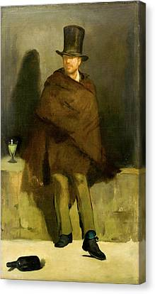 The Absinthe Drinker Canvas Print by Edouard Manet