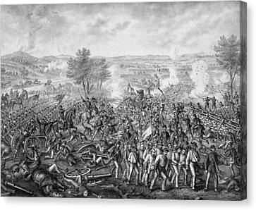 The Battle Of Gettysburg Canvas Print by War Is Hell Store
