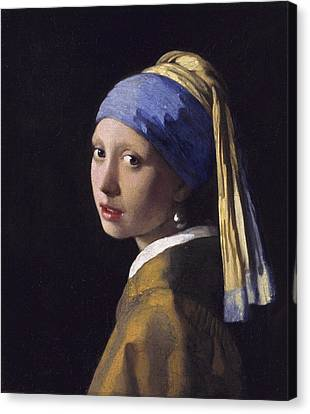 The Girl With A Pearl Earring Canvas Print by Johannes Vermeer