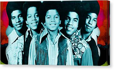 The Jackson 5 Collection Canvas Print by Marvin Blaine
