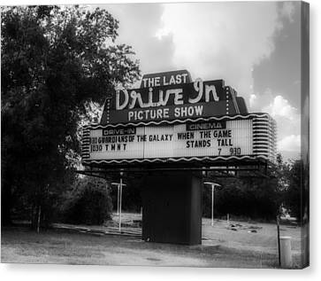 The Last Drive In Picture Show Canvas Print by Mountain Dreams