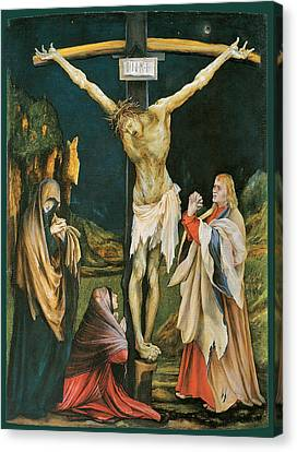 The Small Crucifixion Canvas Print by Matthias Grunewald
