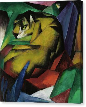 The Tiger  Canvas Print by Franz Marc
