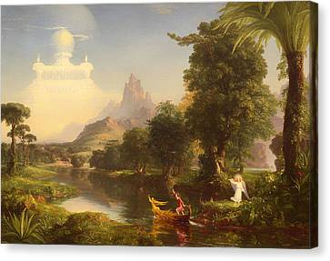 The Voyage Of Life - Youth Canvas Print by Mountain Dreams